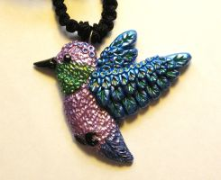 Bird Pendant Commission by GabriellesBabrielles