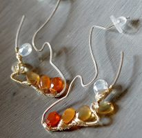 Koi Silouette Earrings by CrysallisCreations