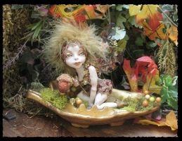 Isolde Autumn OOAK Fairy by gossamerfae