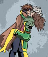 Gambit x Rogue Color by Gaara-Not-Found