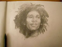 Gesture drawing - Bob Marley by alegreghi