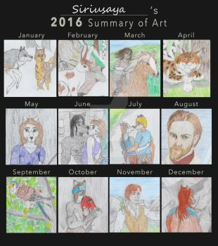 Summary of art 2016 by Siriusaya