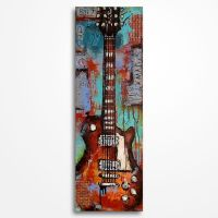 Guitar painting on canvas by Magda Magier by MagdaMagier
