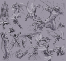 A whole lot of Batman sketches by ErinPtah