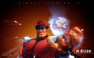 M.Bison Street Fighter 4 by F-1