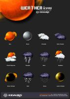 Weather icons by kidaubis by kidaubis