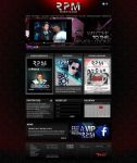 nightclub web prototype by sounddecor
