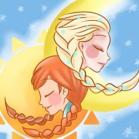 30 Day Challenge - 9th Day - Family - Moon and Sun by himehisagi