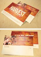 Harvest Celebration Church Postcard Template by loswl
