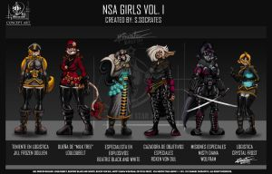 NSA GIRLS I by VLADSPARTA