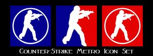 Counter-Strike Metro Icon Set by ThePandaPredator