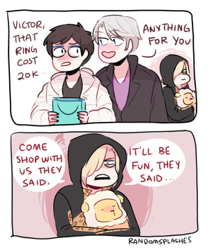 YOI: YURIO REGRETS SHOPPING by Randomsplashes