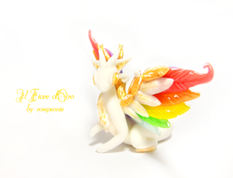 Gem, Rainbowing dragon 3 by rosepeonie