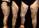 Black and gray leg sleeve by danktat