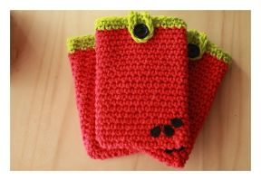 Watermelon Cell Phone Cozy by theyarnbunny