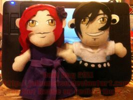 Maia and Levi Plushies by FlantsyFlan