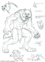 Skin Walker Beast Form by kyoht