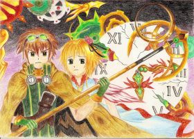 Syaoran and Sakura by Cross-Raven