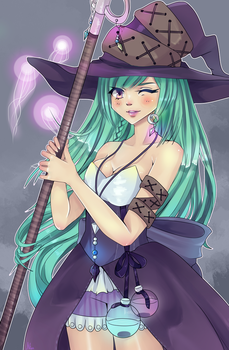 AT: XxCute-KittyxX Witch! [+SPEEDPAINT] by Nionchi