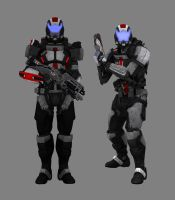 N7 Marines Render by Doommarine23