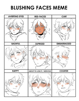 Blushing Faces Meme Rider by BrujaBea