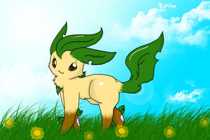 Leafeon In The Sun .:CE:. by Kaigumo