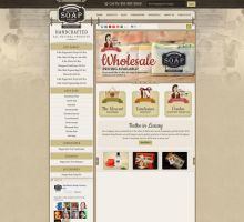 Southern Soap Factory Website by HappyCatfishWeb