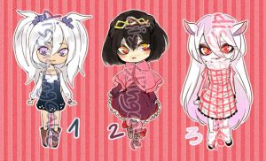chibibatch girls - points adopts (closed) by disgustingcake