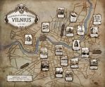 A map of steampunk Vilnius by Daywish