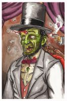 Zombie Abraham Lincoln by Nick-OG