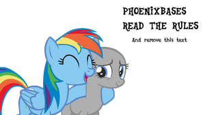 MLP Base: OC x Rainbow Dash by DashieBases