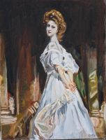 John Singer Sargent Inspired painting. by CharlieJacksonPaine3