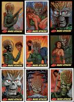 Mars Attacks Heritage sketch cards. by NIK-Nick