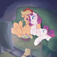Gift:Movie Night by AquaticSun