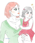 Sasuke's two Baby Girls. by Yui-Sakaino