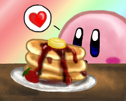 Breakfast with Kirby by AzureShinobi