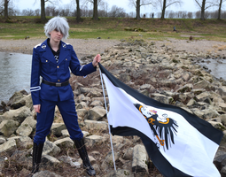 APH Cosplay: Prussia: On the Rhine 2 by SabakuNoChie