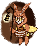 The moth girl by MonoShuga