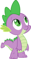 Spike looking up by Myardius