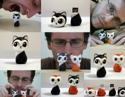 Kitties - pendrive recycled by Gus-Santome