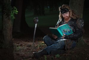 Fairytale: reading in the wood by carlviking