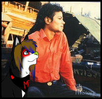 Deathy and Michael photo manip :'D by Deathykinz