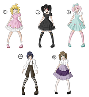 Adoptables LOLITA SET by xlolfishx