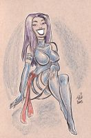 Daily Sketch: Psylocke week 7 by mainasha