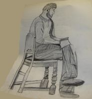 Male Model in Chair by MarinaMoon
