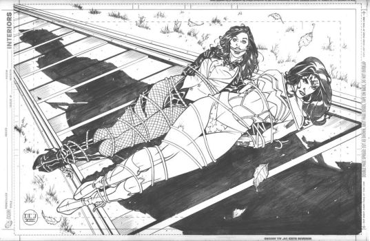 Wonder Woman and Zatanna Bound Commission by DrewEdwardJohnson