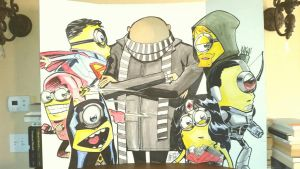 Despicable Me JL color by lroyburch