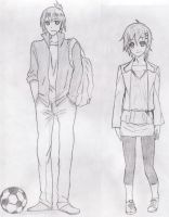 boy and girl by c1c4km4n