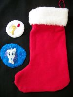 MLP-FiM embroidery patch Xmas stocking by grandmoonma