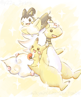 Mega Ampharos and the Electric Rodents Collab by poke-helioptile294